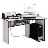Стол компьютерный угловой Триан-1 правый (белый, 1200x750x900 мм)