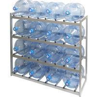 Стеллаж для бутилированной воды Бомис-16Р на 16 тар по 19л металлик