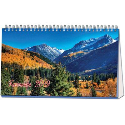 Календарь-домик настольный на 2019 год Горы и водопады (210x120 мм)