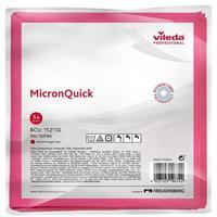Салфетки хозяйственные Vileda Professional МикронКвик микроволокно (микрофибра) 40x38 см красные 5 штук в упаковке (арт. производителя 152110)