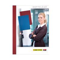Обложки для переплета картонные/пластиковые Opus C-bind Softclear 140 мкм бордовые (корешок 10 мм, 10 штук в упаковке)