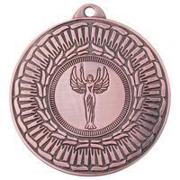Медаль призовая 3 место Ника 50 мм бронзовая