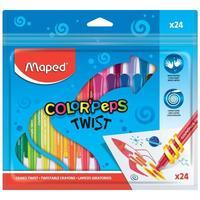 Мелки восковые Maped Color'peps twist трехгранные 24 цвета