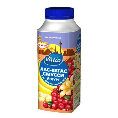 Йогурт питьевой Valio Лас-Вегас смусси клюква/банан/ваниль 1.9% 330 г