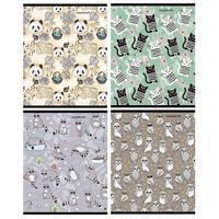 Тетрадь общая Проф-пресс Орнамент А5 96 листов в клетку на скрепке (обложка в ассортименте)