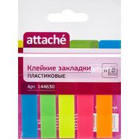 Клейкие закладки Attache пластиковые 5 цветов по 20 листов 12х45 мм