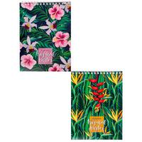 Блокнот Проф-пресс Цветущие растения А5 40 листов в клетку на спирали (обложка в ассортименте)