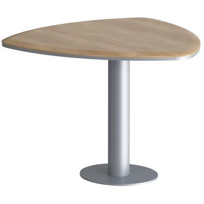 Стол для переговоров Dioni DCT 110M.1 на металлокаркасе (дуб каньон,  1100х1096х773 мм)