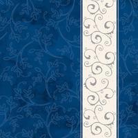 Салфетки бумажные AHA Классика Серебряная полоса 33x33 см синие  3-слойные 20 штук в упаковке