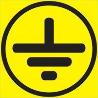 Знак безопасности Символ заземления  Z08 (50x50 мм, пленка ПВХ, 10 штук в упаковке)