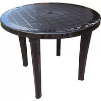 Стол пластиковый коричневый (900x900x740 мм)