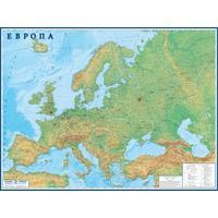 Настеннаяполитико-физическаякарта Европы 1:3.8 млн