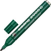 Маркер перманентный Edding 2000C/4 зеленый(толщина линии 1,5-3 мм) круглый наконечник металлический корпус