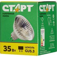 Лампа галогенная Старт 35 Вт GU5.3 спот зеркальный 2750 К теплый белый свет