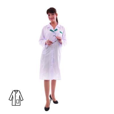 Халат женский медицинский м01-ХЛ (размер 68-70, рост 158-164)