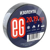 Изолента EG ПВХ 19 мм x 20 м черная