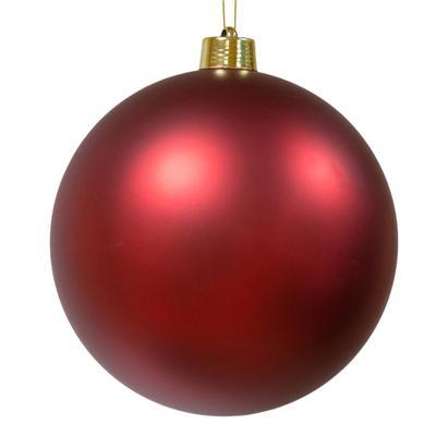 Шар новогодний Green Trees Матовый пластик красный (диаметр 25 см, 12 штук в упаковке)