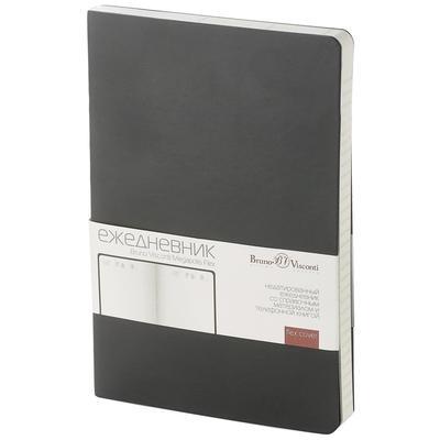 Ежедневник недатированный Bruno Visconti Megapolis Flex искусственная  кожа A5 136 листов черный (140х210 мм)