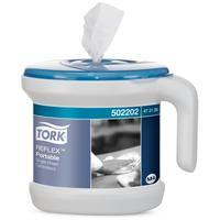 Диспенсер для рулонных полотенец Tork Reflex 473126/473186 переносной стартовый набор пластиковый белый