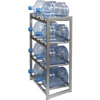 Стеллаж для бутилированной воды Бомис-8Р на 8 тар по 19л металлик