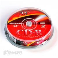 Диск CD-R VS 0,7 GB 52x (10 штук в упаковке)