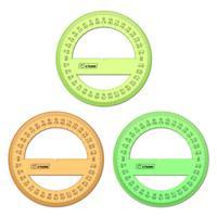 Транспортир Стамм Neon Cristal (360 градусов, 10 см, пластик)