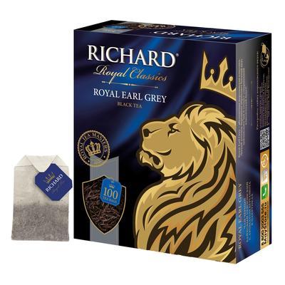 Чай Richard Royal Earl Grey черный с бергамотом 100 пакетиков