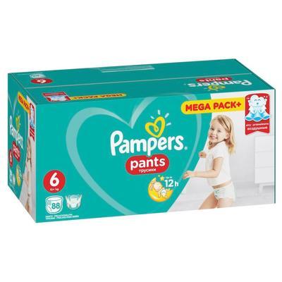 Подгузники-трусики Pampers Pants размер 6 (XXL) 15+ кг (88 штук в упаковке)
