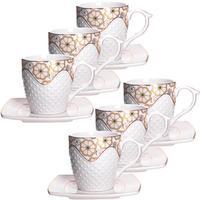 Сервиз чайный Loraine (26833) на 6 персон фарфор (6 чашек 200 мл, 6 блюдец 13 см)
