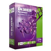 Антивирус Dr.Web Антивирус база для 2 ПК на 12 месяцев (BHW-A-12M-2A3)