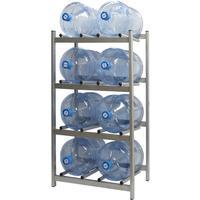 Стеллаж для бутилированной воды Бомис-8 на 8 тар по 19л металлик