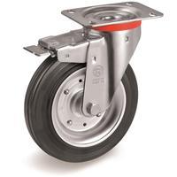Колесо для тележки поворотное Tellure Rota с тормозом 150 мм (535431)