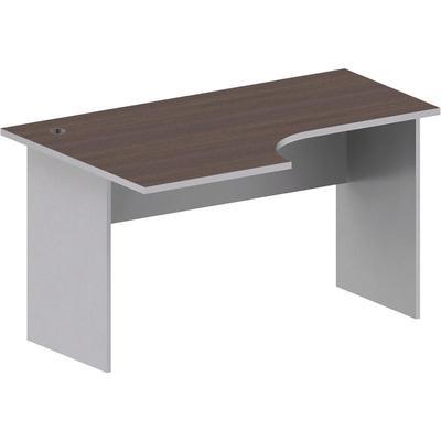 Стол эргономичный Easy Standard левый (шале/серый, 1400x900x740 мм)
