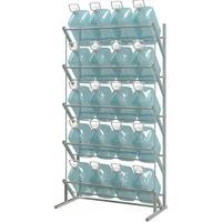 Cтеллаж для бутилированной воды пристенный Стилс-3 на 20 тар по 5/6л серый металлик