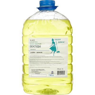 Средство для мытья посуды Proff Блеск Эконом Лайм-лимон 5 л