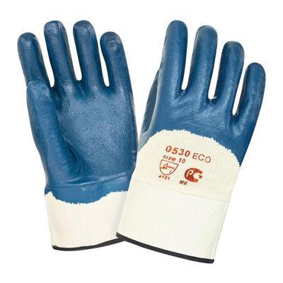 Перчатки рабочие трикотажные 2Hands 0530 с тяжелым нитриловым покрытием (манжета крага размер 10)