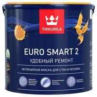 Краска Tikkurila Euro Smart 2 белая глубокоматовая 9 л