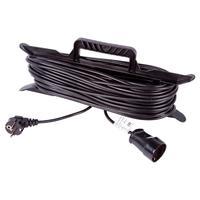 Удлинитель на рамке Rexant 30 метров (1 розетка) 3х0.75 кв.мм черный