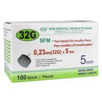 Иглы для шприц-ручек SFM 32G (0.23x5 мм, 100 штук в упаковке)