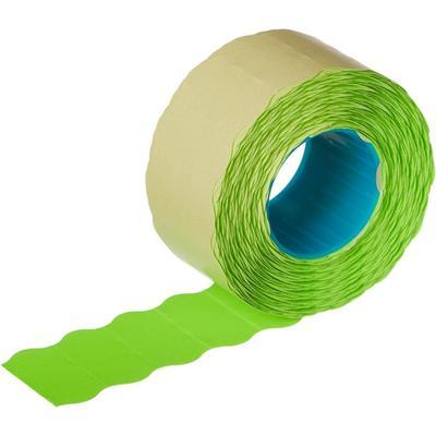 Этикет-лента волна зеленая 26х12 мм (10 рулонов по 1000 этикеток)