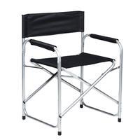 Кресло складное Р120 (5) черное (поливинилхлорид/алюминий)