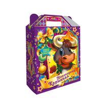Новогодний сладкий подарок Новогодний карнавал в картонной коробке 1000 г (с пазлом)
