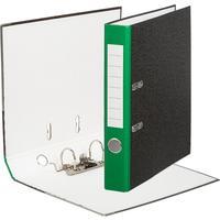 Папка-регистратор Attache Economy 50 мм мрамор черная/зеленый корешок
