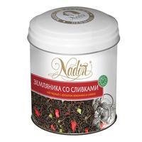 Чай подарочный Nadin Земляника со сливками листовой черный 75 г