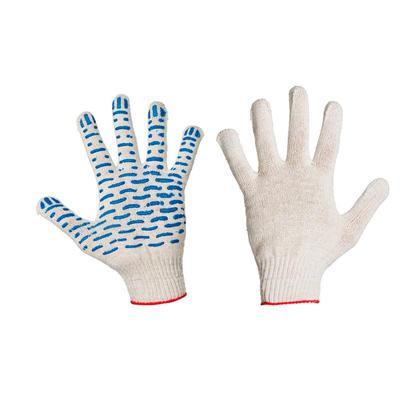 Перчатки защитные трикотажные с ПВХ Протектор (4 нити, 10 класс, 300 пар  в упаковке)