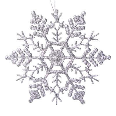 Новогоднее украшение Magic Time Снежинка-паутинка полипропилен серебристое (диаметр 16.5 см)