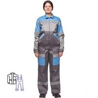 Костюм рабочий летний женский л17-КПК с СОП серый/голубой (размер 60-62, рост 170-176)