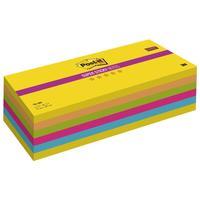 Карты модерационные самоклеющиеся Post-it Super Sticky 762-MIX неоновые 76x205 мм неоновые 5 цветов (6 блоков по 90 листов)