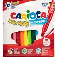 Фломастеры Carioca Bravo 12 цветов