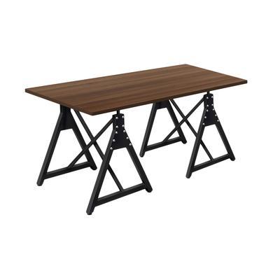 Стол обеденный Энги-3 (орех/черный, 1550х900х760 мм)